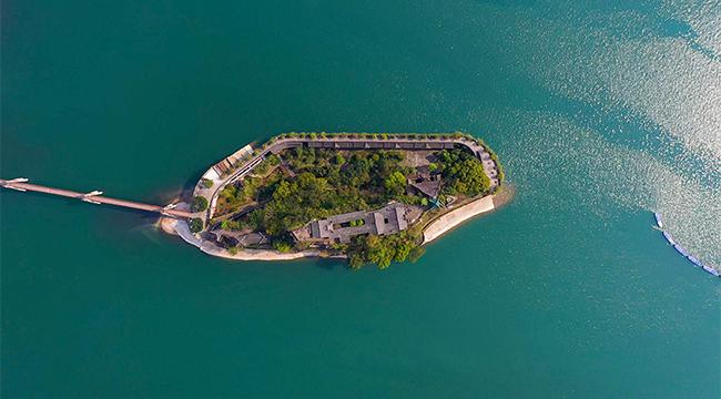 航拍三峽175水位新景觀 半城山色半城湖
