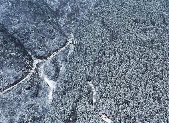 重慶黔江:山山嶺嶺銀裝素裹