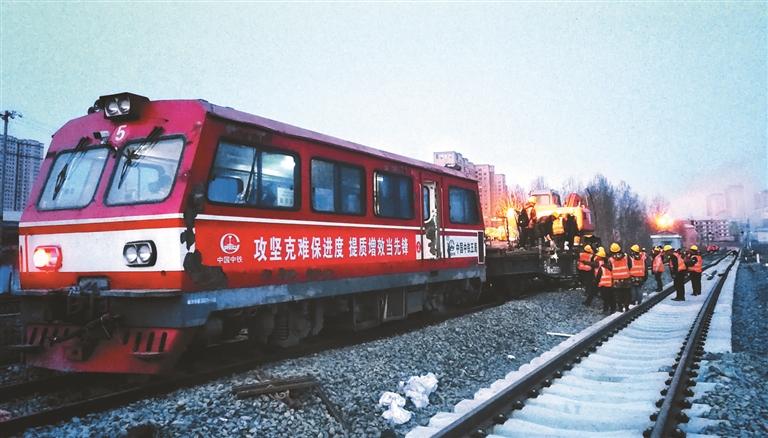 牡佳高鐵牡丹江站完成接口換軌
